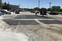 asphalt job site