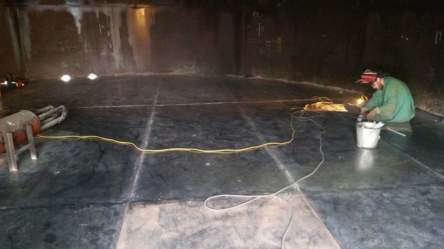 Tank Repair and Floor Replacement 5